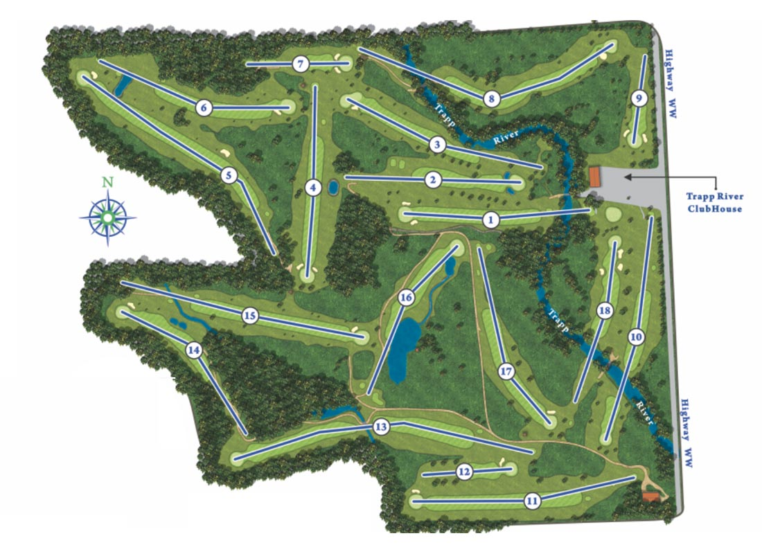 trapp river course map