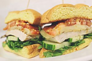 Grilled Chicken Cucumber Sandwich